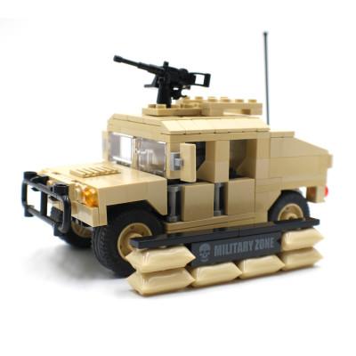 Desert Army Hummer with Mounted Gun