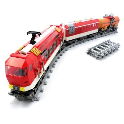 Red Railway Train