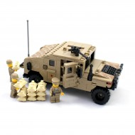 Military Humvee and Soldiers