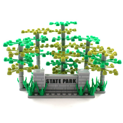 Park Trees - Green and Olive