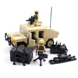 Desert Army Humvee