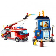 Fire Truck and House