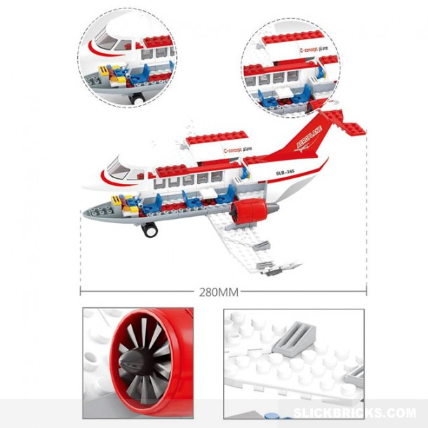 Jet Privato Lego City : Private jet plane slick bricks