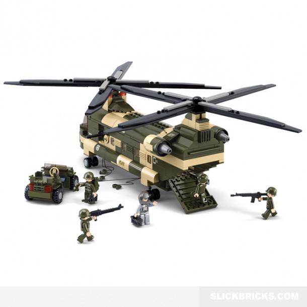 Military Cargo Helicopter | Slick Bricks